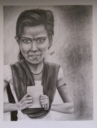 Girl from Pacheswan Drawing