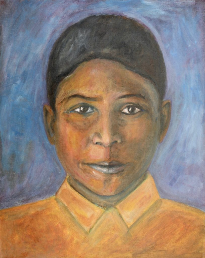 Boy from Sanjauli Painting